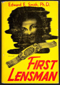"Books:Science Fiction & Fantasy, Edward E. (""Doc"") Smith. First Lensman. Reading: Fantasy,1950. First edition, 500 copies, inscribed on inserted l..."