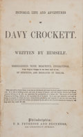 Books:Americana & American History, Davy Crockett. Pictorial Life and Adventures of DavyCrockett. Written by Himself. Philadelphia: Peterson,[n.d....