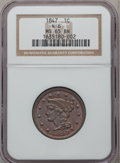 Large Cents: , 1847 1C MS65 Brown NGC. N-6. NGC Census: (47/25). PCGS Population(10/1). Mintage: 6,183,669. Numismedia Wsl. Price for pr...