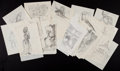 Books:Children's Books, [Garth Williams]. Margery Sharp. Forty-Nine Original PreliminaryRough Sketches Prepared for Miss Bianca. Al... (Total: 49Items)