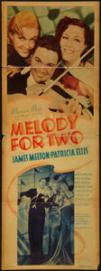 """Movie Posters:Musical, Melody for Two (Warner Brothers, 1937). Insert (14"""" X 36""""). Musical.. ..."""