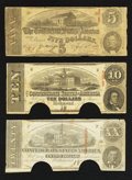 Confederate Notes:1863 Issues, T58 $20 1863;. T59 $10 1863;. T60 $5 1863.. ... (Total: 3 notes)