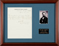 Autographs:Military Figures, William T. Sherman Autograph Field Pass Signed...