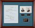 Autographs:Statesmen, Gideon Welles and Andrew H. Foote Document Signed....