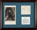 Autographs:Military Figures, Henry Halleck Autograph Note Signed...