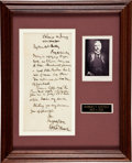 Autographs:Statesmen, Robert Todd Lincoln Autograph Letter Signed...