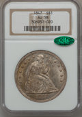 Seated Dollars, 1847 $1 AU58 NGC. CAC....
