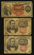 Fractional Currency:Fifth Issue, 10¢ and 25¢ Fractional Notes.. ... (Total: 3 notes)