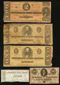 Confederate Notes:Group Lots, Miscellaneous Confederate.. ... (Total: 5 items)