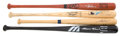 Baseball Collectibles:Bats, 500 Home Run Club Members Single Signed Bats Lot of 4....