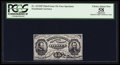 Fractional Currency:Third Issue, Fr. 1272SP 15¢ Third Issue Narrow Margin Face PCGS Apparent Choice About New 58.. ...