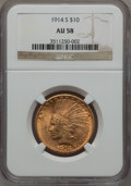 Indian Eagles, 1914-S $10 AU58 NGC....