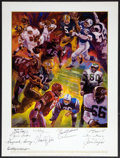 Football Collectibles:Others, NFL Legends Multi Signed Poster....