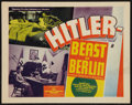 """Movie Posters:War, Hitler - Beast of Berlin (Producers Distributing Corp., 1939).Title Lobby Card (11"""" X 14""""). War.. ..."""