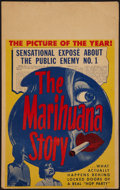 "Movie Posters:Exploitation, The Marihuana Story (Sonney Amusement, 1951). Window Card (14"" X22""). Exploitation.. ..."