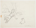 Books:Children's Books, [Garth Williams]. Mary Stolz. Preliminary Drawing for Emmett'sPig, Signed. From the Estate of Garth W...