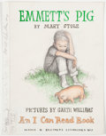 Books:Children's Books, [Garth Williams]. Mary Stolz. Cover Preliminary for Emmett'sPig. Pencil, watercolor, and ink drawing. Fro...