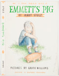Books:Children's Books, [Garth Williams]. Mary Stolz. Cover Preliminary for Emmett'sPig. Pencil, watercolor, and ink drawing. Sig...