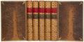 Books:Fine Bindings & Library Sets, [A. H. Clough, translator and editor]. Plutarch. Plutarch's Lives. The Translation Called Dryden's. London: Samp... (Total: 5 Items)