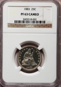Proof Seated Quarters, 1883 25C PR63 Cameo NGC....