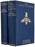 Books:Literature 1900-up, H. Rider Haggard. Two First Editions, including: Ayesha; TheHoly Flower. London: Ward Lock, 1905, 1915. First e... (Total:2 Items)