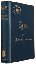 Books:Literature Pre-1900, H. Rider Haggard. She. A History of Adventure.London: Longmans, Green, and Co., 1887. First English edition. ...