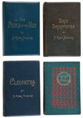 Books:Literature Pre-1900, H. Rider Haggard. Four First Editions: Cleopatra; Eric Brighteyes; The People of the Mist; Heart of the World. Londo... (Total: 4 Items)