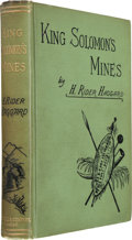 Books:Literature Pre-1900, H. Rider Haggard. King Solomon's Mines. London: Cassell& Company, 1885. ...