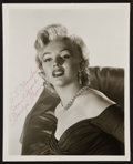 """Movie Posters:Miscellaneous, Marilyn Monroe (1950s). Signed Portrait Photo (8"""" X 10""""). Miscellaneous.. ..."""