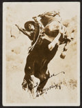 """Movie Posters:Western, Tom Mix (1930). Autographed Photo (3.5"""" X 4.5""""). Western.. ..."""