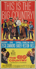 """Movie Posters:Western, The Big Country (United Artists, 1958). Three Sheet (41"""" X 79""""). Western.. ..."""