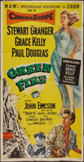 "Movie Posters:Adventure, Green Fire (MGM, 1954). Three Sheet (40.5"" X 77""). Adventure.. ..."