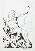Original Comic Art:Illustrations, Leonard Kirk Supergirl Illustration Original Art (2004)....