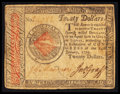Colonial Notes:Continental Congress Issues, Continental Currency January 14, 1779 $20 Very Fine.. ...