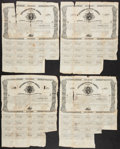 Confederate Notes:Group Lots, Ball 74 Cr. 34 $500 1861 Bonds Four Examples Fair.. ... (Total: 4items)