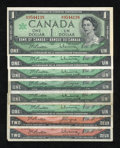Canadian Currency: , 1954 and 1967 Canadian Notes.. . ... (Total: 8 notes)