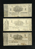 Obsoletes By State:Louisiana, Shreveport, LA- State of Louisiana $1 Mar. 1, 1864 Three Different Examples. ... (Total: 3 notes)