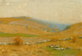 Fine Art - Painting, American:Modern  (1900 1949)  , BRUCE CRANE (American, 1857-1937). Golden Hills. Oil oncanvas. 14-1/4 x 20-1/4 inches (36.2 x 51.4 cm). Label verso:...