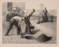Fine Art - Work on Paper:Print, GRANT WOOD (American, 1891-1942). Tree Planting Group, 1939.Lithograph on paper. 8-1/2 x 10-3/4 inches (21.6 x 27.3 cm)...