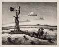 Fine Art - Work on Paper:Print, THOMAS HART BENTON (American, 1889-1975). West Texas, 1952.Lithograph. Image: 10-3/4 x 13-3/4 inches (27.3 x 34.9 cm). ...