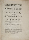 Books:Religion & Theology, Sir Isaac Newton. Observations upon the prophecies of Daniel,and the Apocalypse of St. John. In two parts. Lond...