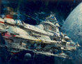 Pulp, Pulp-like, Digests, and Paperback Art, JOHN CONRAD BERKEY (American, 1932-2008). Colonies in Space,book cover, circa 1978. Casein and acrylic on board. 14.5 x...
