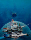 Paintings, JOHN CONRAD BERKEY (American, 1932-2008). Spaceship Among Planets. Casein and acrylic on board. 22.25 x 17.5 in.. Signed...