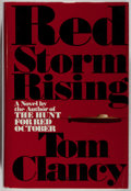 Books:Mystery & Detective Fiction, Tom Clancy. SIGNED. Red Storm Rising. Putnam, 1986. Firstedition, first printing. Signed by the author. Light r...