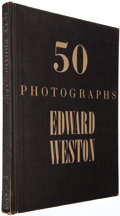 Books:Photography, Edward Weston. 50 Photographs. New York: [1947]. Firstedition, one of 1,500 copies initialed by Weston....