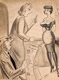 "Pin-up and Glamour Art, BILL WARD (American, 1919-1998). ""Dear if the New Maid Doesn'tPlease You - I'll Have to Let You Go!"", Fun House magazine ..."