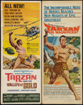 "Movie Posters:Adventure, Tarzan the Magnificent & Other Lot (Paramount, 1960). Inserts(2) (14"" X 36""). Adventure.. ... (Total: 2 Items)"