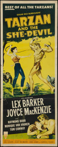 "Movie Posters:Adventure, Tarzan and the She-Devil & Other Lot (RKO, 1953). Insert (14"" X36"") & Belgians (2) (14"" X 18"" & 14"" X 21.5""). Adventure..... (Total: 3 Items)"