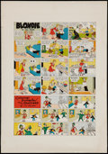 """Movie Posters:Comedy, Blondie Sunday Color Proof Sheet Group (King Features, 1955).Sunday Comics Color Proof Sheets (3) (17.5"""" X 25""""). Comedy.. ...(Total: 3 Items)"""