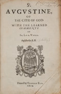 Books:Religion & Theology, Saint Augustine. Of the Citie of God. With the Learned Comments of Jo. Lod. Vives. Englished by J. H. [London]: Prin...
